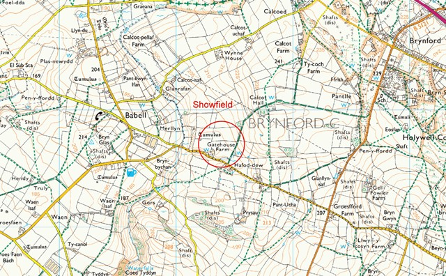 MAP OF SHOWFIELD - 2015